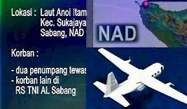 Pesawat Nomad Jatuh di Sabang