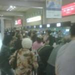 Terminal Bandara Mulai Dipadati Penumpang