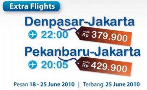 Mandala Air Extra Flight