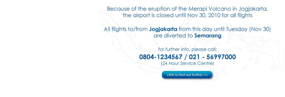 Adisutjipto Close, Mandala Air Diverted to Ahmad Yani Airport
