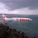 Pesawat Lion Air Jatuh ke Laut dekat Bandara Ngurah Rai Bali