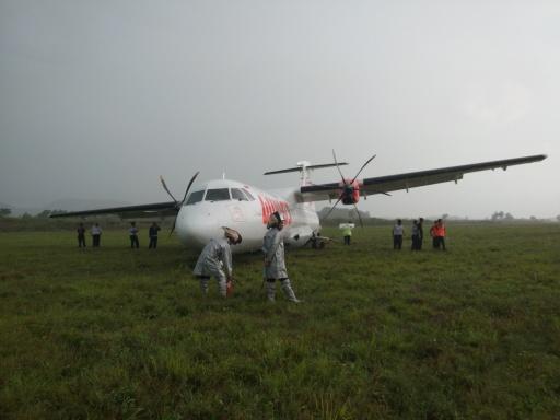 Pesawat Wings Air Tergelincir di Bandara Hasanuddin Makassar