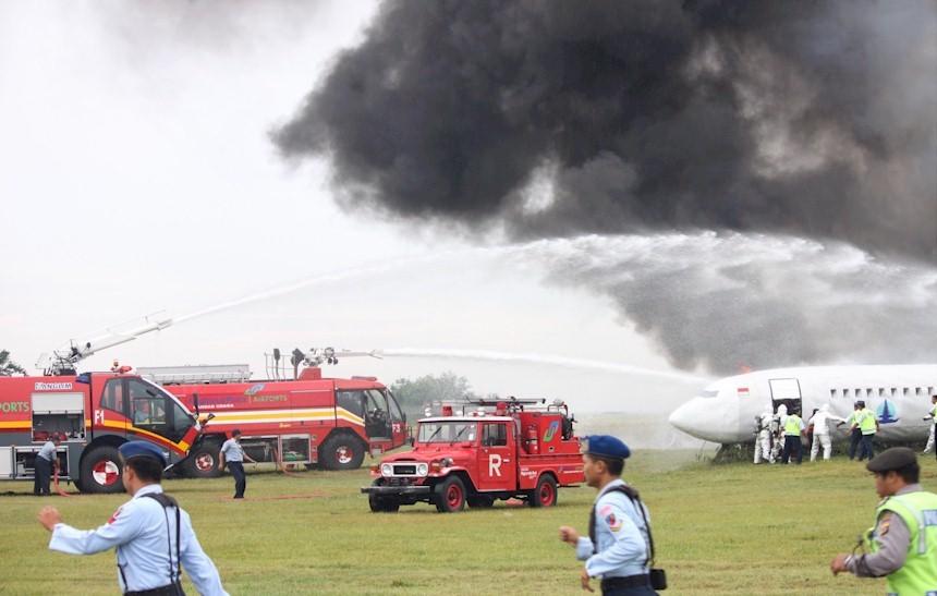 Simulasi Penanggulangan Keadaan Darurat di Bandara Adisutjipto Yogyakarta
