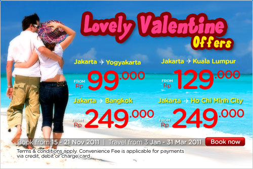 Airasia Promo, Lovely Valentine's Offer