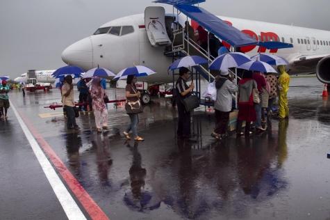 Penerbangan Bandara Hang Nadim Batam Terganggu Cuaca Buruk