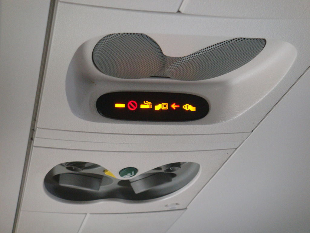 Tanda lampu dikabin pesawat